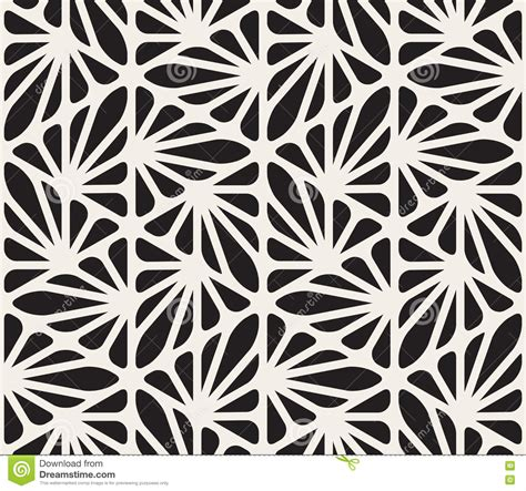 pattern organic vector vector seamless black and white floral organic triangle