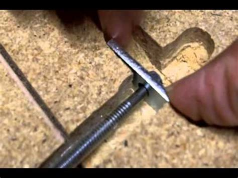 How To Join Laminate Countertops by How To Use Miter Bolts To Attach 2 Pieces Of Countertop