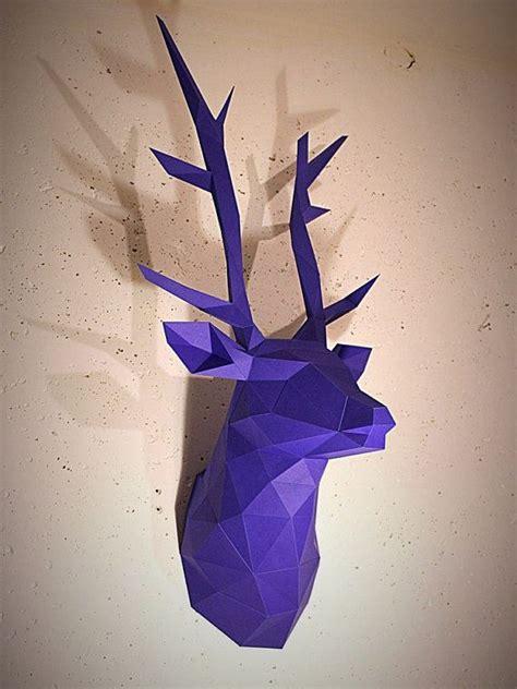 Papercraft Deer - 25 best ideas about cardboard deer heads on