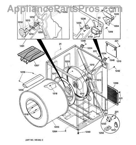 ge dryer parts diagram ge we4x757 safety thermostat appliancepartspros