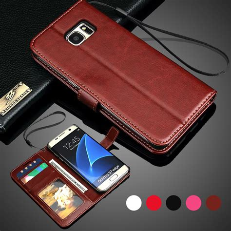 Flip Crown Samsung S6 Edge Leather Wallet Softcase Sarung Cover Casing for samsung galaxy s7 stand wallet flip pu leather for samsung galaxy s7 edge s6
