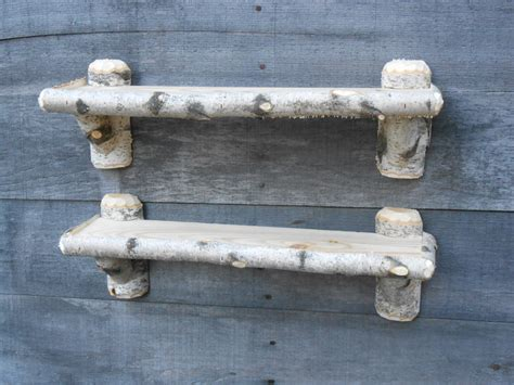 Birch Shelf by Two Rustic Maine White Birch Knick Knack Shelves