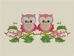 free machine embroidery downloads free 2 owl design machine embroidery