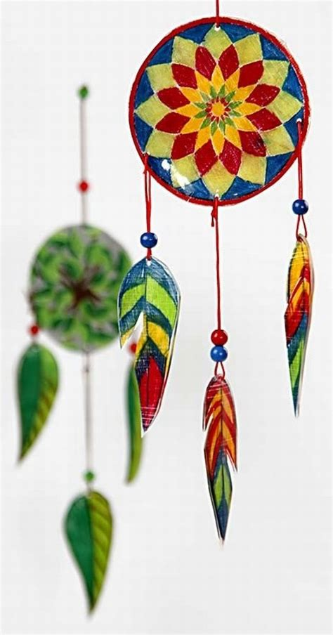 wind chime  shrink plastic sheets
