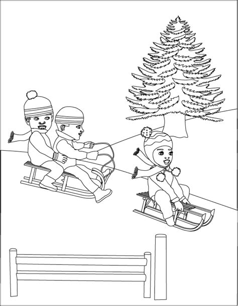 coloring pages of sledding sledding coloring pages coloring home