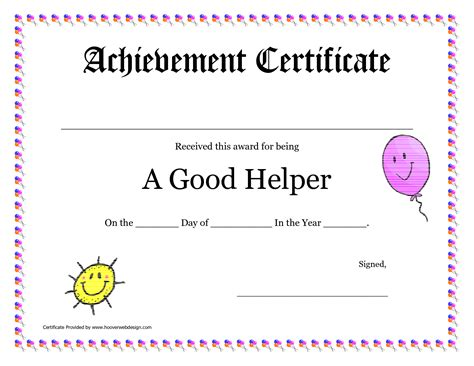 printable award certificates for teachers good helper