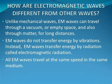 Why Is Space Called A Vacuum Electromagnetic Waves Ppt