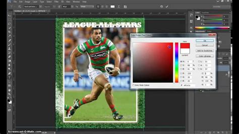 photoshop sports card template free make a trading card in adobe photoshop part 1