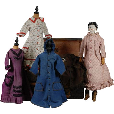 china doll clothing german china doll with wardrobe of clothing from