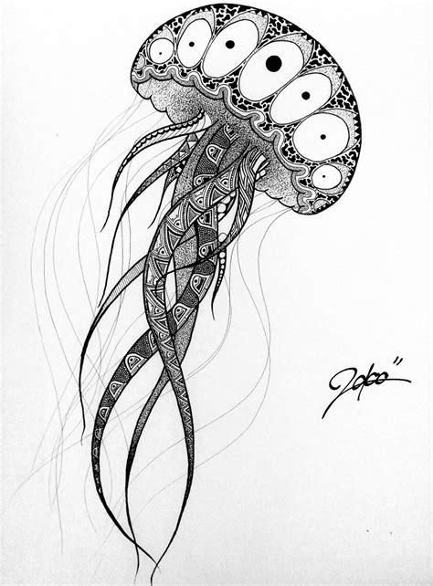 mandala jellyfish tattoo drawn jellies mandala pencil and in color drawn jellies
