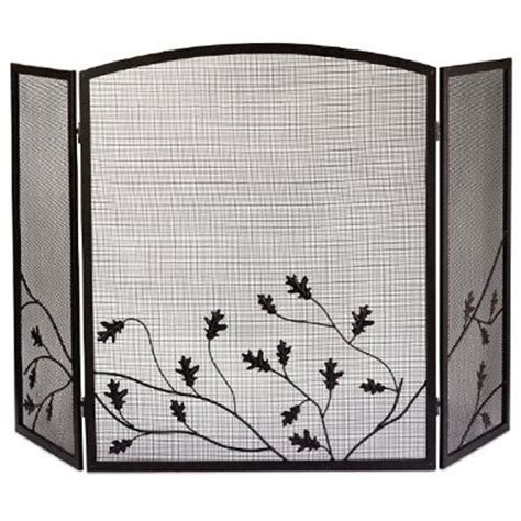panel folding fireplace screen mesh traditional home decor