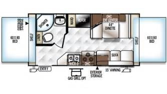 Rockwood Camper Floor Plans by 2018 Forest River Rockwood Roo 19 Hybrid Trailer