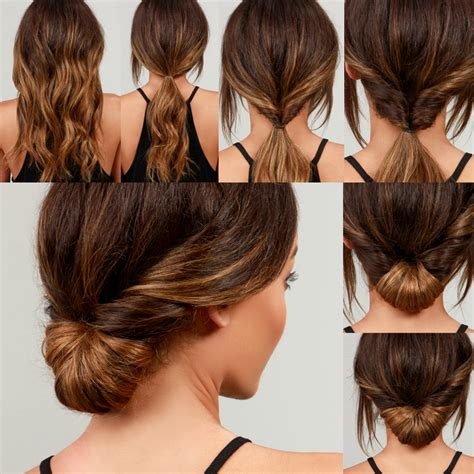 how to do chignon hairstyles lulu s how to simple chignon hair tutorial lulus com