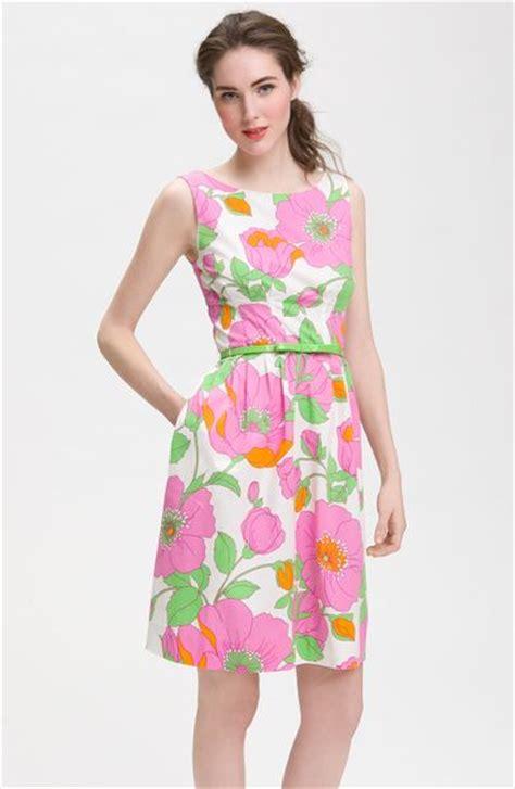 Dress Pink Floral kate spade sonja dress in pink pink floral lyst