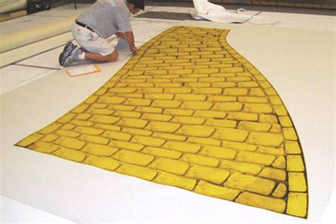 Yellow Brick Road Rug print on carpet printed event carpet takes on shape of
