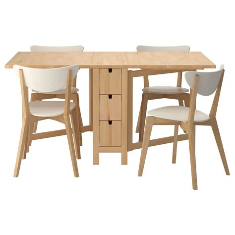 Multi Wood Dining Table With Folding Chairs Combination Wooden Folding Dining Table