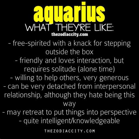 aquarius facts 29 aquarian pinterest alone time