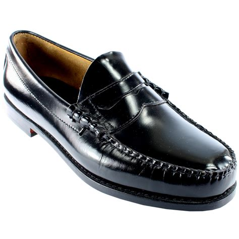 bass shoes loafers mens g h bass larson slip on smart loafer flat
