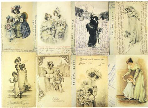 Decoupage History - a 4 classic decoupage paper scrapbook sheet vintage