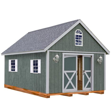 barns belmont  ft   ft wood storage shed kit
