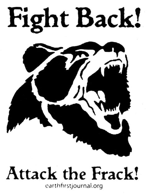 Fight Back fight back attack the frack earth sticker peace