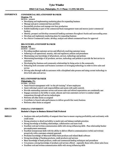 Relationship Banker Sle Resume by Relationship Banker Resume Sles Velvet