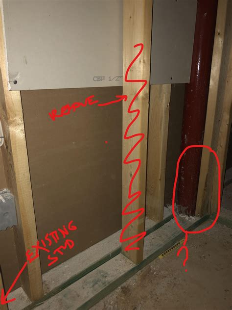 framing small door  stairs building construction