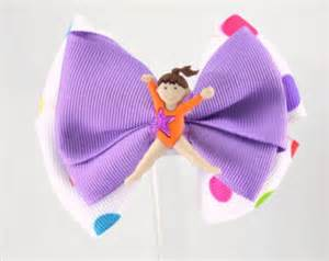 ribbon for hair that says gymnastics items similar to gymnastics bow set gymnast hair bows