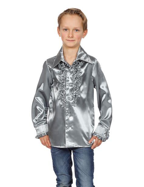 camicia con volant camicia argentata con volant per bambino costumi bambini