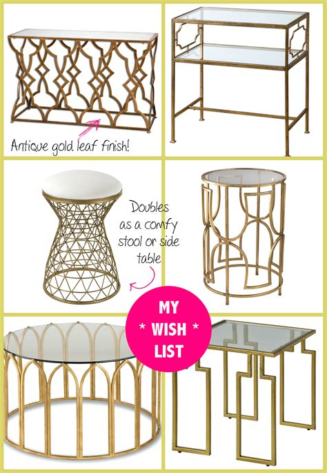spring shopping   gold mirrored table  build