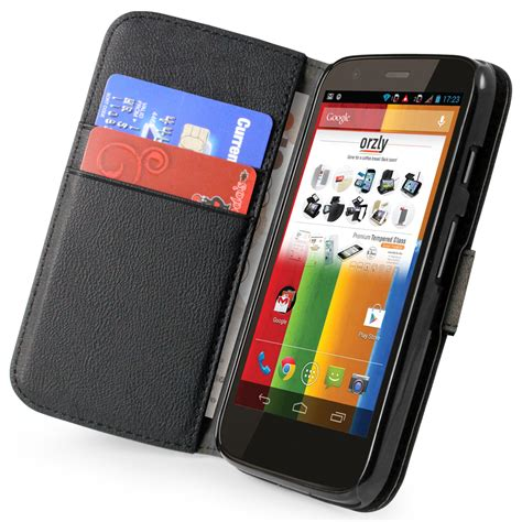 Leather Motorola Moto G orzly leather wallet motorola moto g 1st black