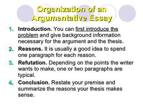 What Is A Thesis In An Essay by Argumentative Essay