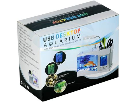 Aquarium Usb mini usb lcd desktop aquarium fish tank timer calendar