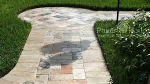 Concrete Mold Patio Travertine Pavers On Driveway Travertine Paver