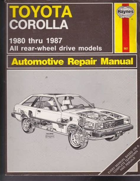 what is the best auto repair manual 1987 mitsubishi starion head up display purchase service manual toyota corolla 1980 through 1987 automotive repair motorcycle in san