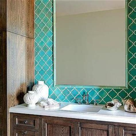 turquoise backsplash tile turquoise blue vanity with marble countertop and