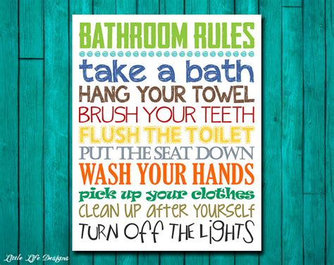 kids bathroom rules kids bathroom rules 28 images bathroom quote prints