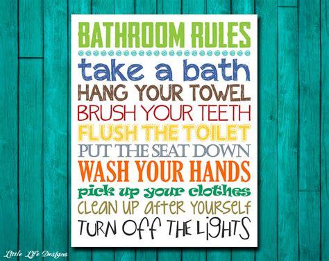 bathroom rules for kids bathroom rules boys bathroom decor boys bathroom wall art