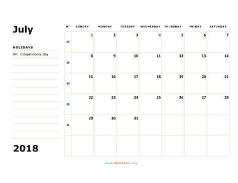 july  calendar wikidatesorg