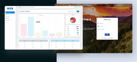 free bootstrap templates for online exam material design bootstrap