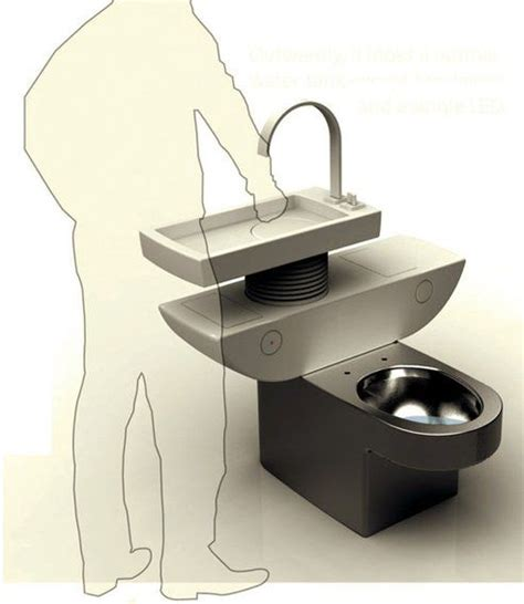 water sink combo smart toilet sink combo uses greywater to flush toilet