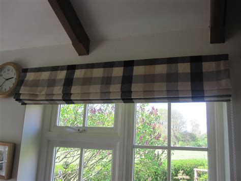 Kitchen Cloth Blinds Blind Using Re Cycled Fabric Lined And With Side