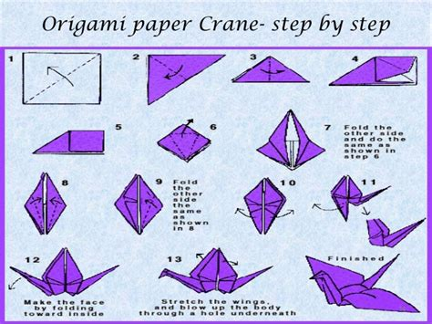 How To Make Paper Crane Step By Step - origami a paper folding