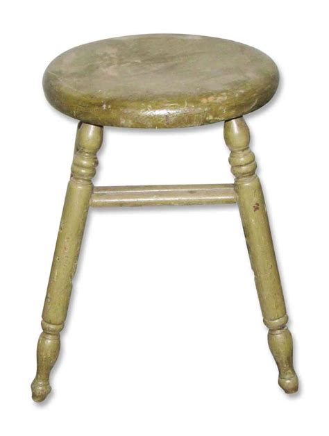 Vintage Wooden Stool by Vintage Wooden Stool Painted Grass Green Olde Things