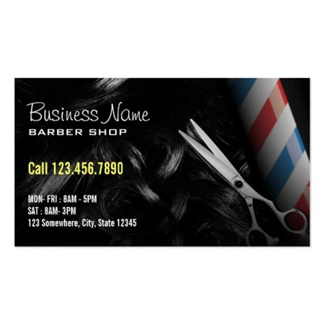 500 barbershop business cards and barbershop business