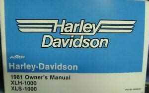 nos oem owners manual amf harley sportster  xls xlh