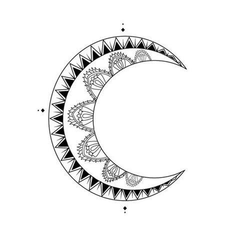 crescent moon tattoo design moon crescent design digital by inknillustrations