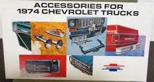 Truck Accessories Catalog Original 1974 Chevrolet Truck Dealer Brochure Accessories
