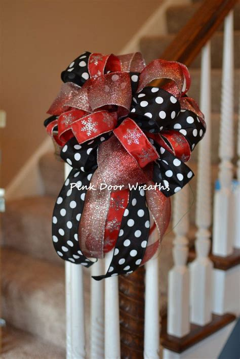 made to order 13 quot christmas tree topper bow decor red
