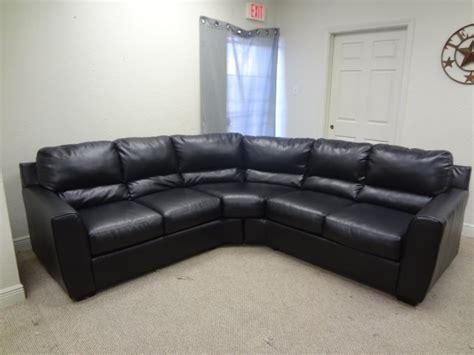 ashley black leather sectional ashley black blended leather sectional sofa